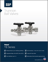 Ball Valves - TB Series Trunnion