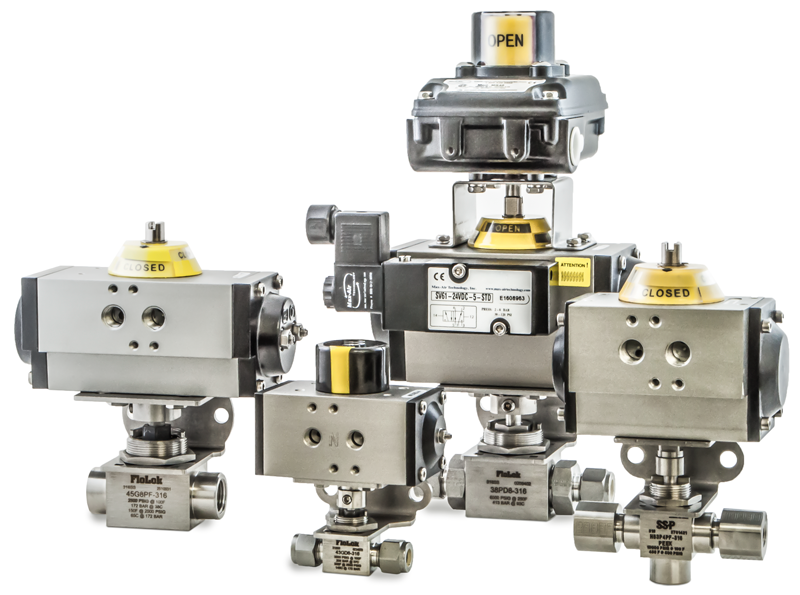 Actuated Ball Valve Assemblies