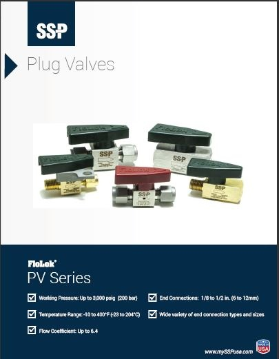 Plug Valve Catalog - PV Series Quarter Turn Plug Valves
