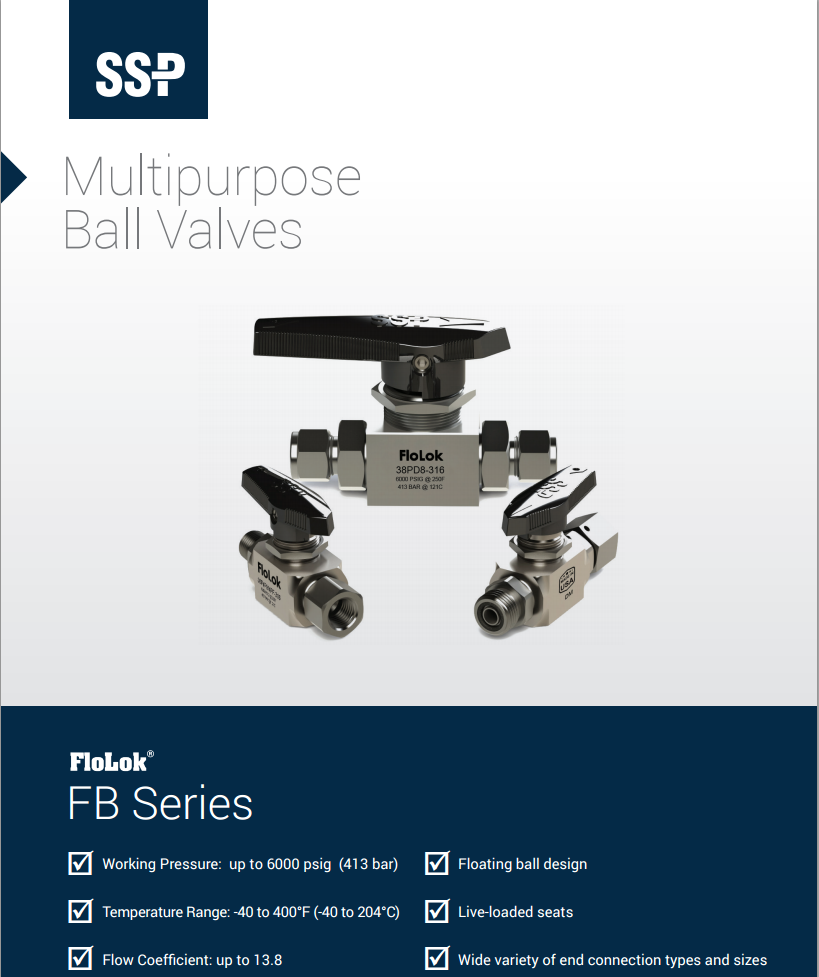 Floating Ball Valves catalog