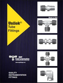 Tube Fittings Catalog - Unilok Single Ferrule Compression Tube Fittings